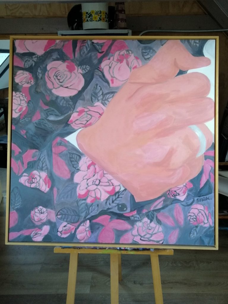 Schilderij Trouwblos uit de serie schilderijen trouwen