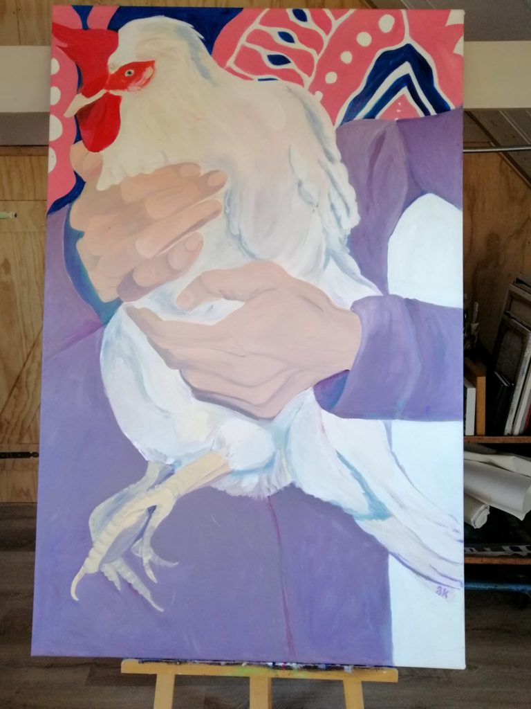 Schilderij met kip