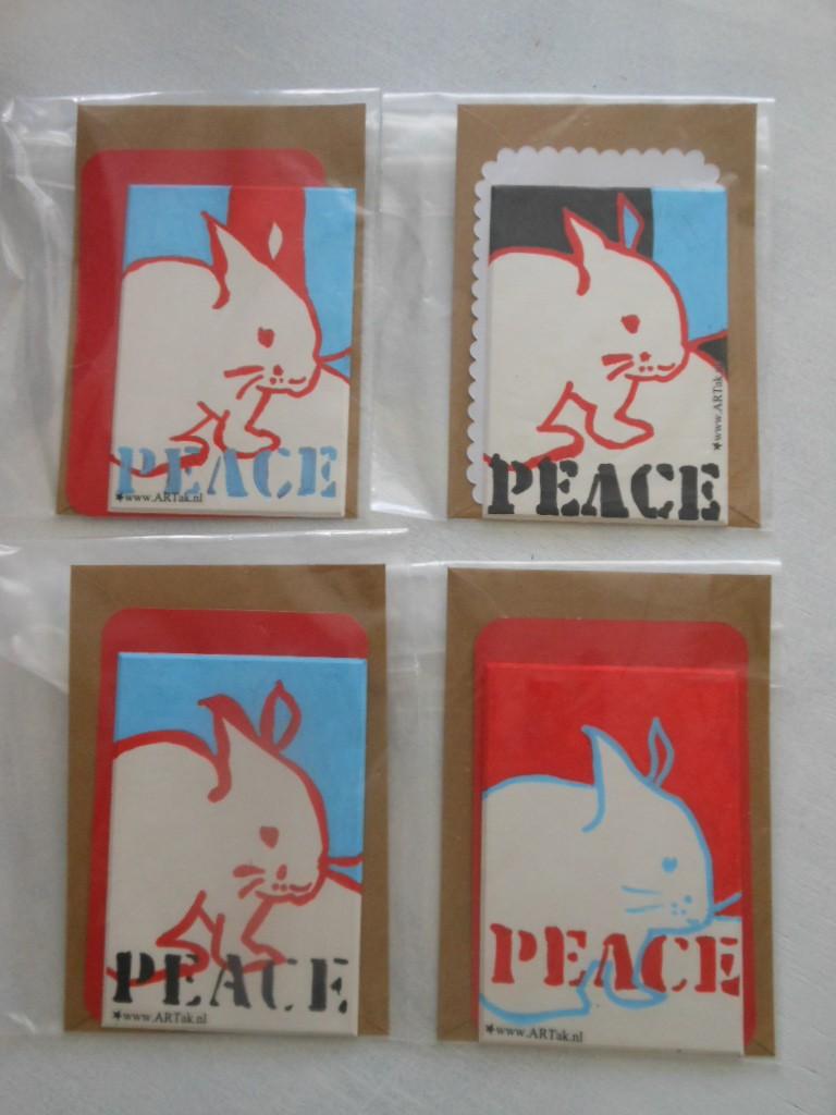 kaartjes met PEACE
