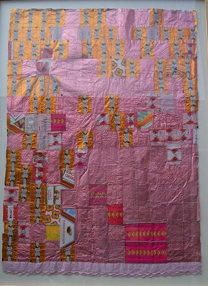 Ucycling collage roze snoeppapiertjes