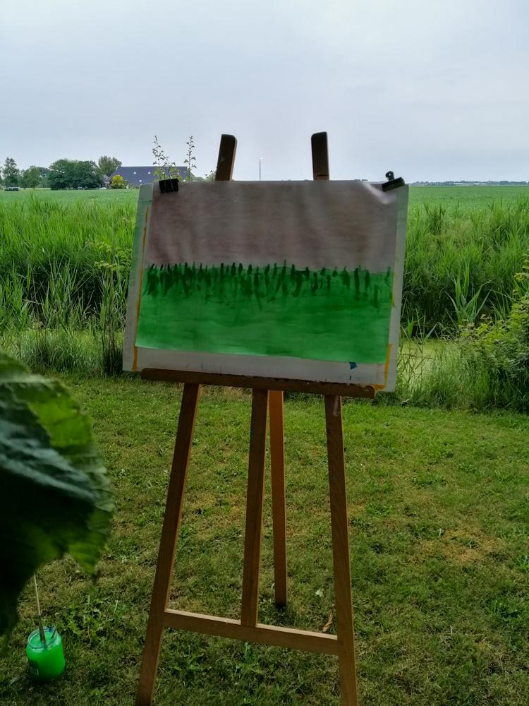 Schilderen met kinderen - landschap - 2020 - ezel