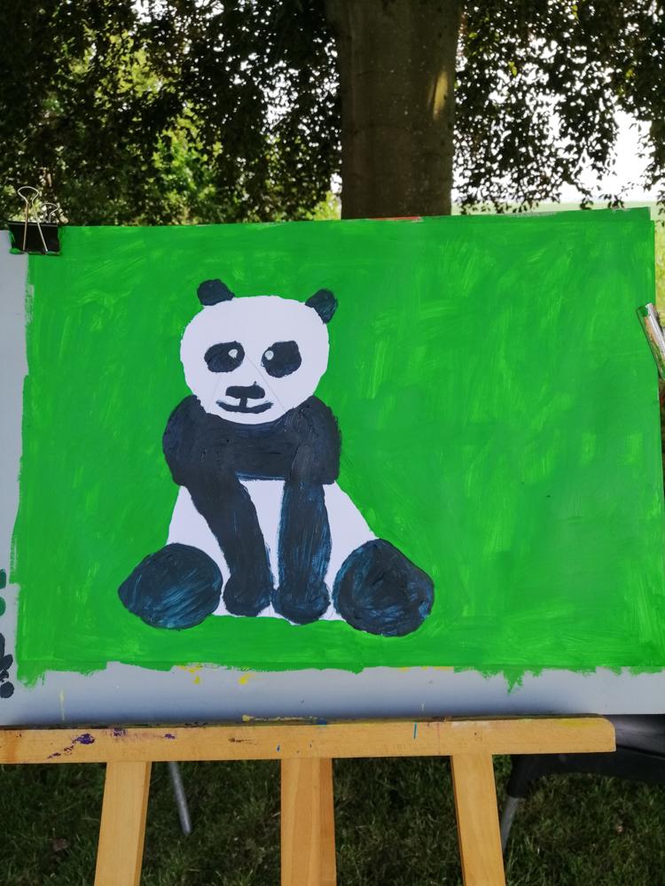 Schilderen met kinderen - landschap - 2020 - panda