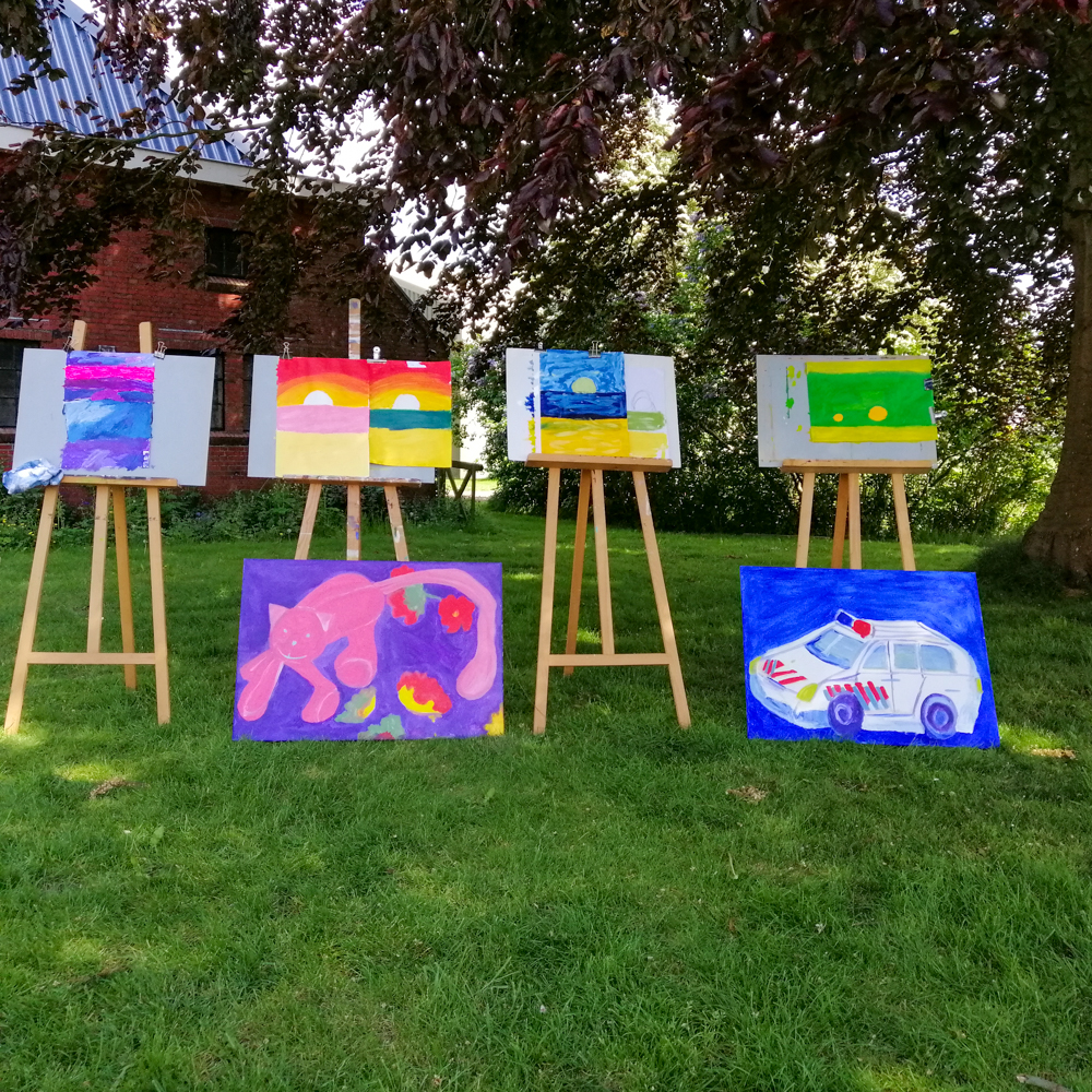 Schilderen met kinderen - landschap - 2020 - resultaat