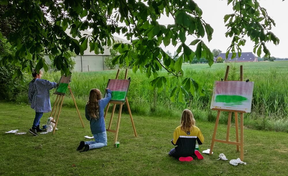 Schilderen met kinderen - landschap - 2020