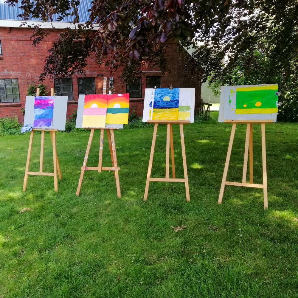 workshop schilderen met kinderen - weinig kleur