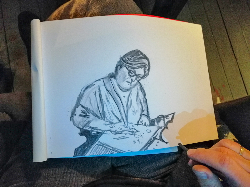 Diverse tekeningen met houtskool ballpoint en pen - ARTak 2020