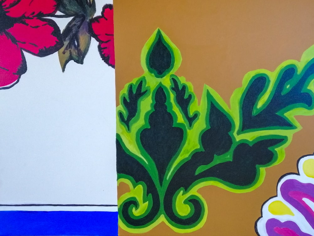 Schilderij Patroon uit de serie Tischdecken